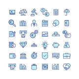 Set of business and finance icons Stock Images