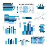 Set of business flat, 3D design graph. Royalty Free Stock Photos