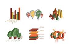 Set of Business Flat, 3D Design Graph Stock Photography