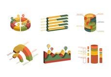 Set of Business Flat, 3D Design Graph Stock Photos