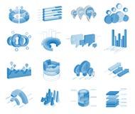 Set of Business Flat, 3D Design Graph. Infographics Charts. Set of business flat, 3D design graph. Infographics charts set Royalty Free Stock Photography