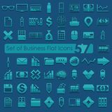Set of business flat icons. It is a set of business flat icons Stock Photo