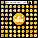 Set of business flat icons. It is a set of business flat icons Stock Photos