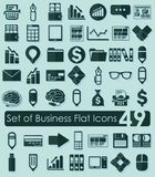 Set of business flat icons. It is a set of business flat icons Stock Images