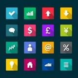 Set of business flat icons. Illustration Stock Photography