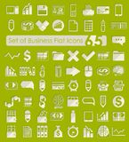 Set of business flat icons. It is a set of 65 business vector web icons for Web and Mobile Applications Stock Images