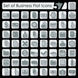 Set of business flat icons. It is a set of 57 business vector web icons for Web and Mobile Applications Royalty Free Stock Photos