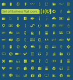 Set of business flat icons. Set of business vector web icons for Web and Mobile Applications Royalty Free Stock Images