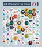 Set of business flat icons. Set of business vector web icons for Web and Mobile Applications Royalty Free Stock Photo
