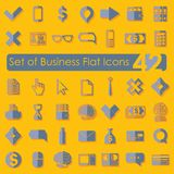 Set of business flat icons. For Web and Mobile Applications Stock Photography