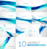 Set of business flowing waves Royalty Free Stock Photo