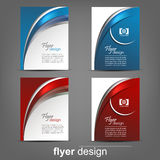 Set of business flyer template, corporate banner or cover design Stock Image