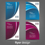 Set of business flyer template, corporate banner or cover design Stock Photography