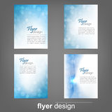 Set of business flyer template, corporate banner or cover design. Set of business flyer template, corporate banner, cover design or brochure. Design with place vector illustration