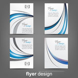 Set of business flyer template, corporate banner or cover design Stock Photos