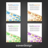 Set of business flyer template, corporate banner or cover design Stock Photo