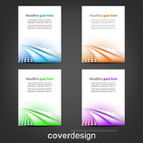 Set of business flyer template, corporate banner or cover design Royalty Free Stock Photo