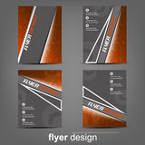 Set of business flyer template for cover design, document folder or brochure Royalty Free Stock Photo