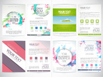 Set of business flyers or template. Royalty Free Stock Photography