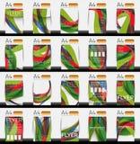 Set of business geometric design flyer templates. Huge mega collection of 20 backgrounds Royalty Free Illustration