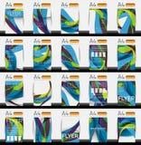 Set of business geometric design flyer templates. Huge mega collection of 20 backgrounds Stock Illustration