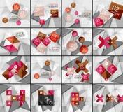 Set of business geometric option steps Stock Photography