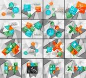 Set of business geometric option steps Royalty Free Stock Photo