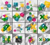 Set of business geometric option steps Royalty Free Stock Image