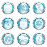 Set Business Gloss Button. Nine circle gloss icon for internet, illustration royalty free illustration