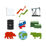 Set for business graphics. Set to infographics. Icon collection Royalty Free Stock Photo