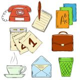 Set of business hand draw images Royalty Free Stock Photos