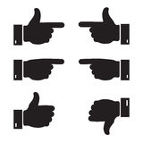 Set of business hand icon. Stock Photos