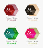 Set of business hexagon layouts with text and options. Design elements of web design navigation layout, infographics or corporate presentation Stock Photo