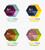 Set of business hexagon layouts with text and options Royalty Free Stock Photos
