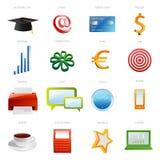 Set of business icon royalty free illustration