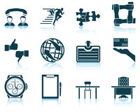 Set of business icon Stock Images