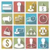 Set of business icon. Vector illustration. Set of 16 images on the theme of business royalty free illustration
