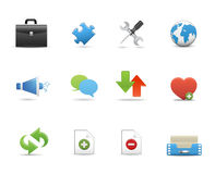 Set of business icons Stock Photography