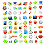 Set of business icons Stock Image