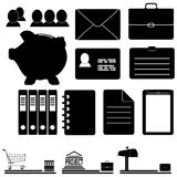 A set of business icons Stock Images