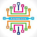 Set of Business Icons. Unique Royalty Free Stock Photo
