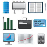 Set of business icons. Royalty Free Stock Photos