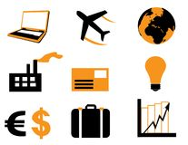 A set of business icons Royalty Free Stock Images