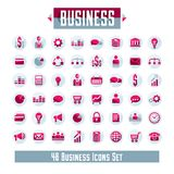 Set of 48 business icons and design elements for your project, v. Ector graphic design Royalty Free Stock Photography