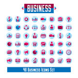 Set of 48 business icons and design elements for your project. Vector graphic design stock illustration