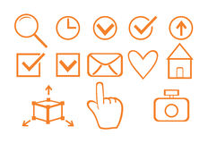 Set of business icons for design Royalty Free Stock Images