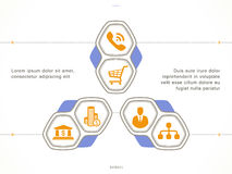 Set of business icons. In different items such as business plan, statistics, business conference, planning, top mobile applications, earnings in flat on white Stock Photos