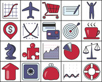 Set of Business Icons. EPS 10 contains transparency Royalty Free Stock Photography
