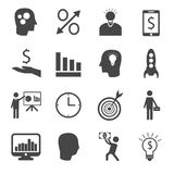 Set of business icons Royalty Free Stock Photos