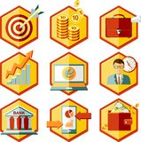 Set business icons Stock Photography